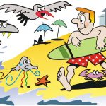 Beach cartoon