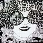 willywonkaglassesface zentangle