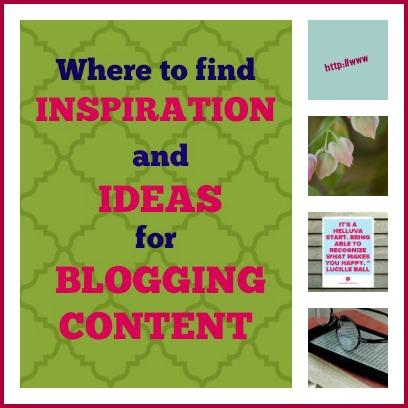 inspiration for blogging