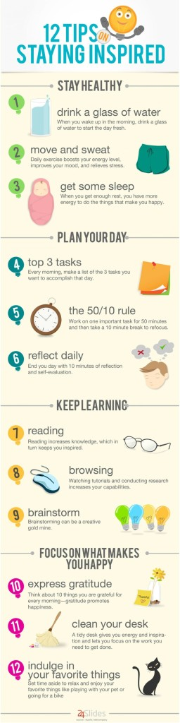 12 tips for staying inspired