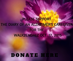 PLEASE SUPPORT THE DIARY OF AN ALZHEIMER'S