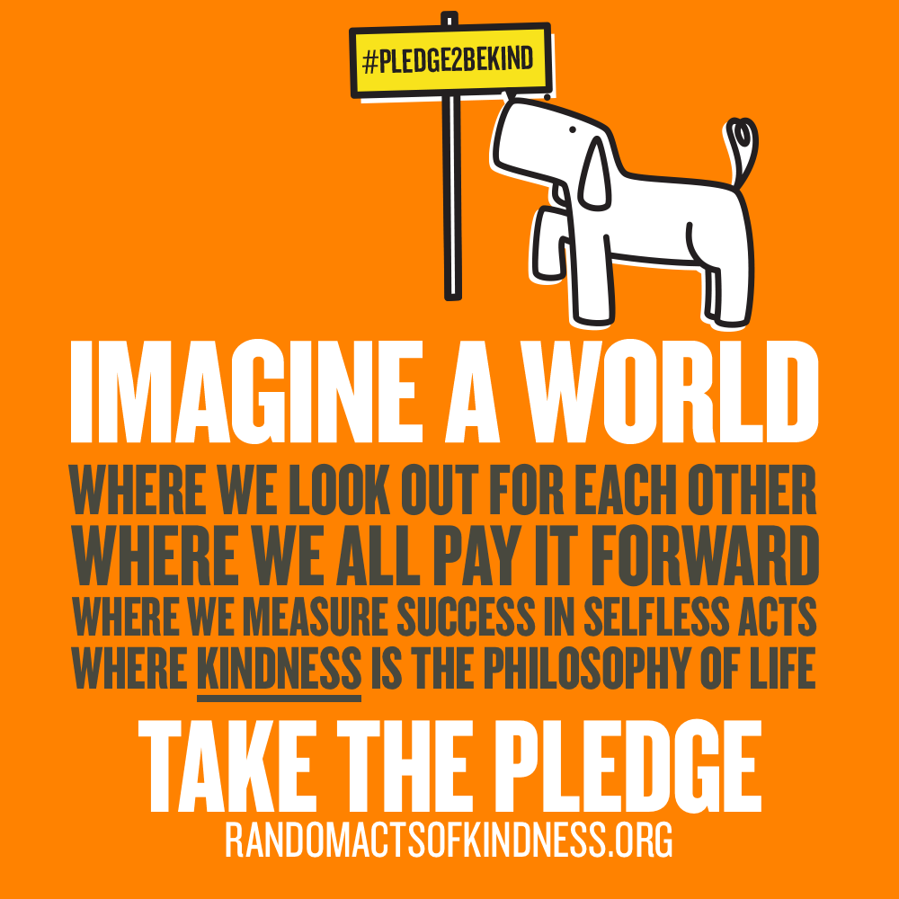 #PledgeToBeKind_Dog_on_Orange