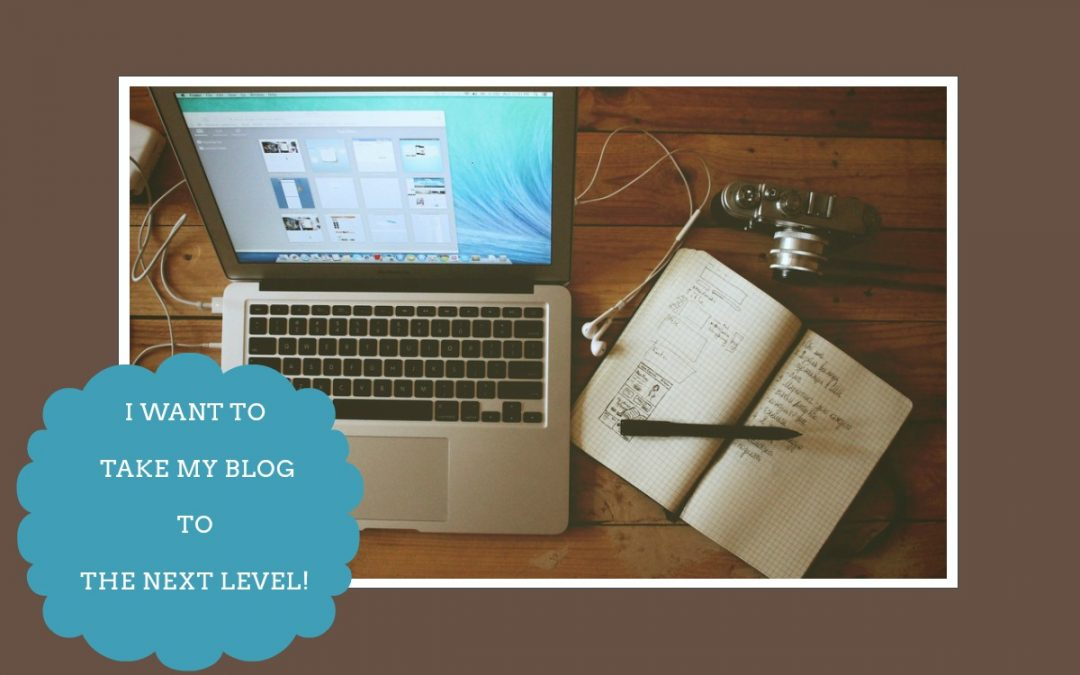 I Want To Take My Blog To The Next Level #Blogchatter