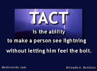 On Being Tactful