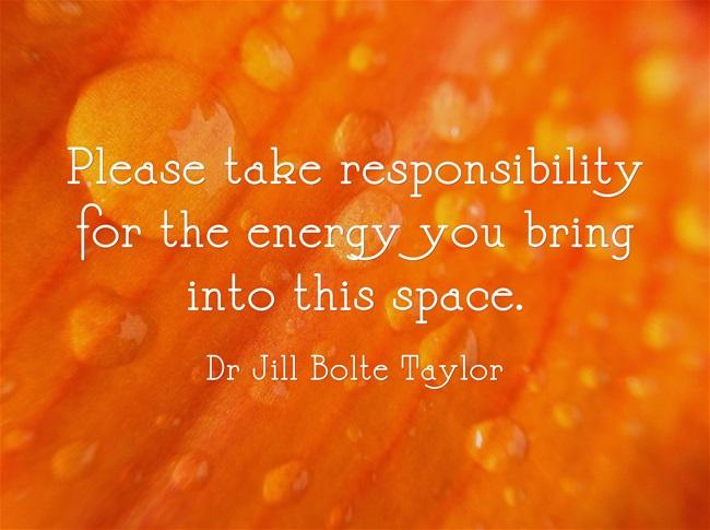 Taking Responsibility For Energy