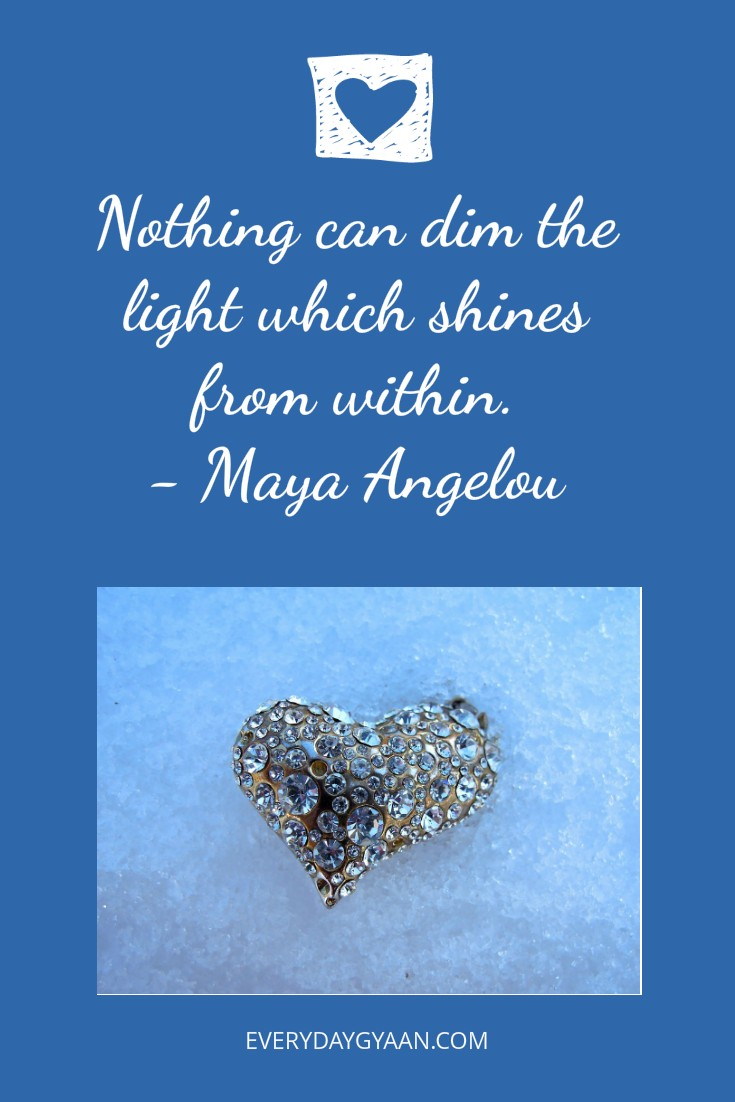 Nothing can dim the inner light and why I bought myself a diamond ring!