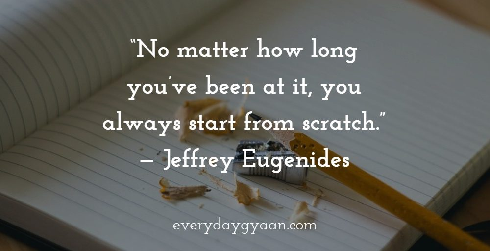 Starting From Scratch #MondayMusings