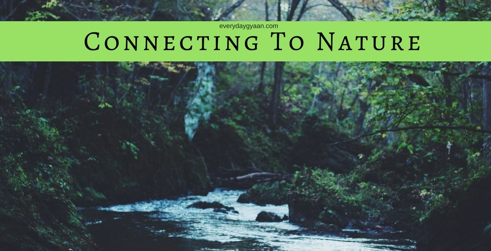 Connecting to Nature   #MondayMusings