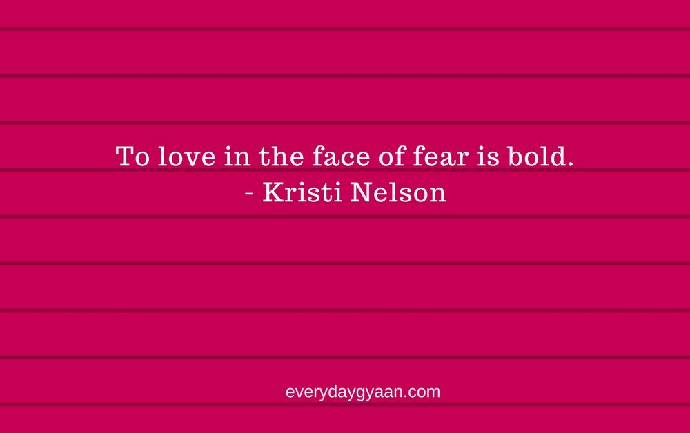Loving In The Face Of Fear  #MondayMusings