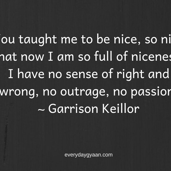 Being Too Nice is Not Nice! #FridayReflections