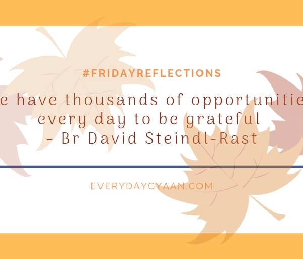 Opportunities To Be Grateful #everydaygratitude #FridayReflections